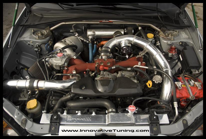 Brian_04_STI_Engine_Bay_Turbo_FMIC_Piping_Custom